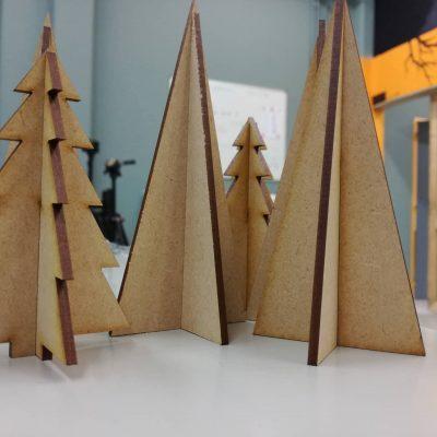 Kerstboom op Lasersnijder