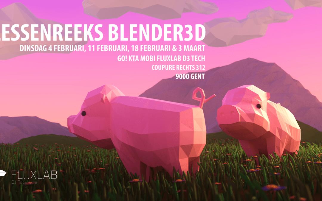 Lessenreeks Blender3D te Gent