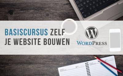 Je eigen website bouwen en beheren met WordPress (GEANNULEERD)